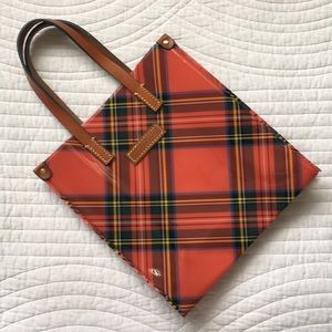 Dooney & Bourke Tote Plaid Tartan Bag Small